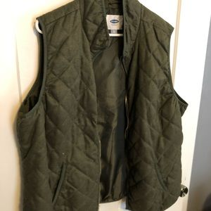 Quilted Olive Vest